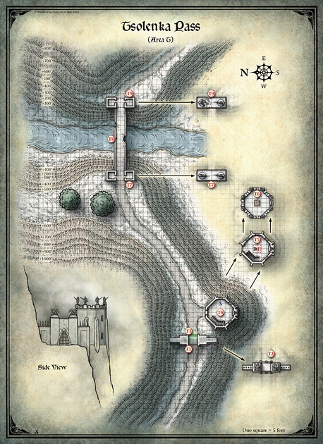 Mike Schley: Curse of Strahd &emdash; Curse of Strahd; Tsolenka Pass (Digital DM & Player Versions)