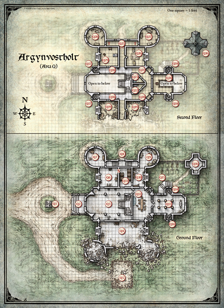 Mike Schley: Curse of Strahd &emdash; Curse of Strahd;  Argynvostholt 1 (Digital DM & Player Versions) $1.75
