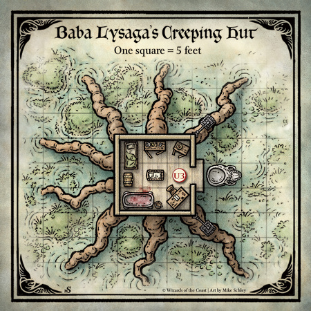 Mike Schley: Curse of Strahd &emdash; Curse of Strahd; Baba Lysaga's Creeping Hut (Digital DM & Player Versions) $1.75