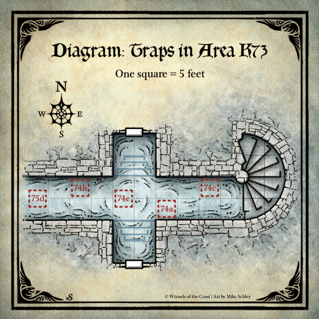 "Mike Schley: Curse of Strahd &emdash; Curse of Strahd; Trap Diagram"" (Digital DM & Player Versions) $1.75"