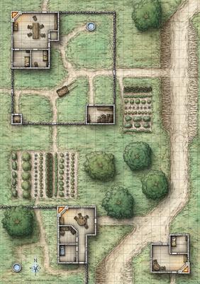 Mike Schley: Map Downloads &emdash; Reavers of Harkenwold; Poster Side 1 (Digital Gridded & Ungridded Versions)